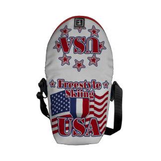 Freestyle Skiing USA Messenger Bags