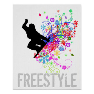 Freestyle Snowboard Poster