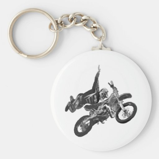 Freestyling with dirt bike keychains