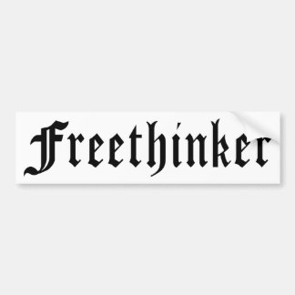 Freethinker 1 bumper sticker