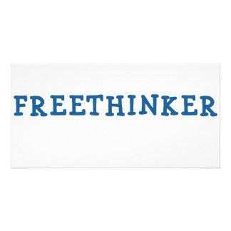 Freethinker (blue) photo card