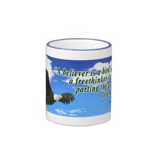 Freethinker quote ringer coffee mug