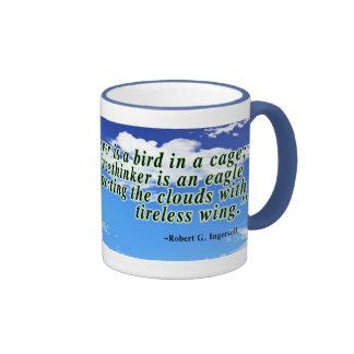 Freethinker quote coffee mugs