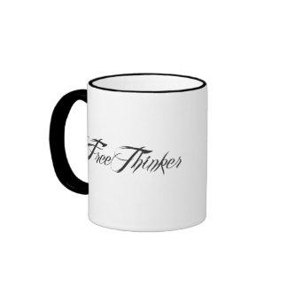 Freethinker Script Ringer Mug