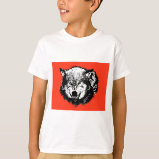 FreeVector-Angry-Wolf-Head-Graphics T-Shirt