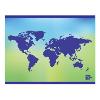 FreeVector-Earth-Vector.ai digital art maps causes Postcard