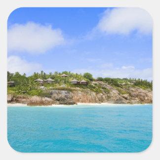 Fregate Island resort (PR) Square Sticker