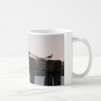 Freighter Gull and Pilings Basic White Mug