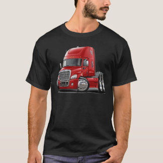 Freightliner Cascadia Red Truck T-Shirt