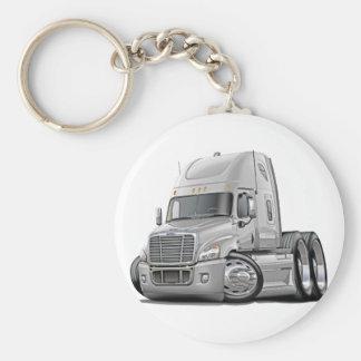 Freightliner Cascadia White Truck Key Ring