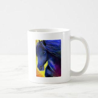 Freisian horse painting mugs