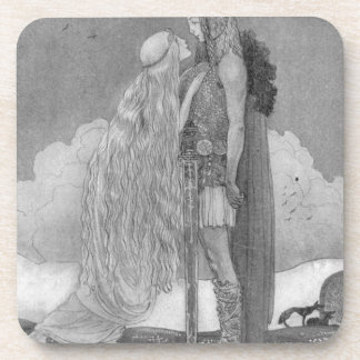 Freja and Svipdag by John Bauer Coaster