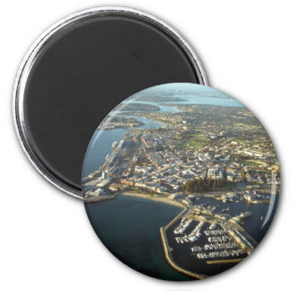 Fremantle Harbour, Western Australia 6 Cm Round Magnet