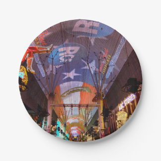 Fremont Street Experience 7 Inch Paper Plate