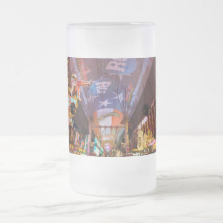 Fremont Street Experience Frosted Glass Beer Mug