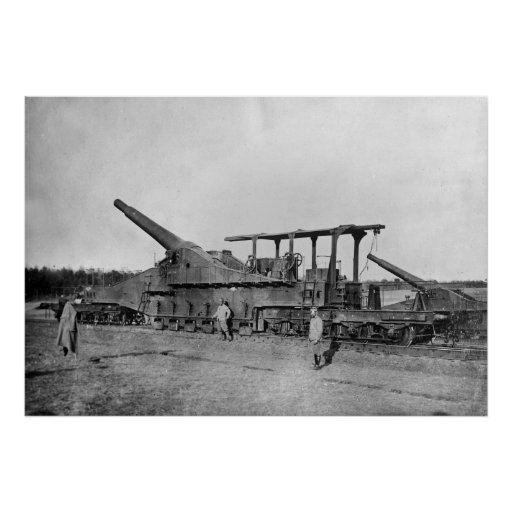 French 320 mm Railway Gun, 1910s Poster
