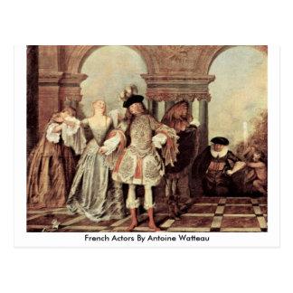French Actors By Antoine Watteau Postcard