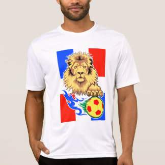 French African Soccer Lion performance micro-fiber T-Shirt