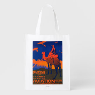 French Airline Promotional Poster Grocery Bags