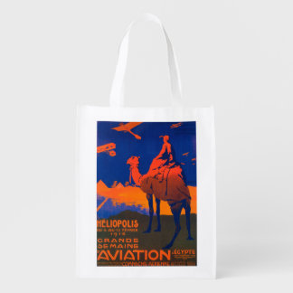French Airline Promotional Poster Reusable Grocery Bag