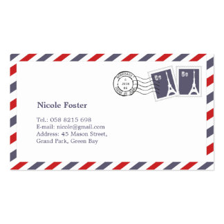 French Airmail with Stamps Pack Of Standard Business Cards