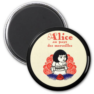 French Alice Book Cover 6 Cm Round Magnet