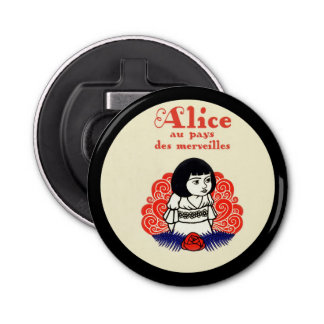 French Alice Book Cover Bottle Opener