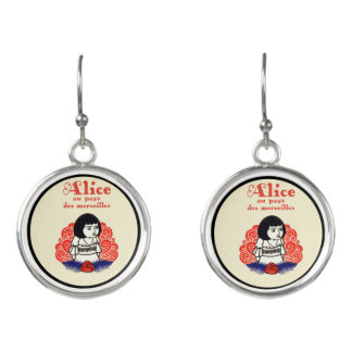 French Alice Book Cover Earrings