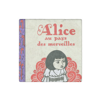 French Alice Book Cover Stone Magnet