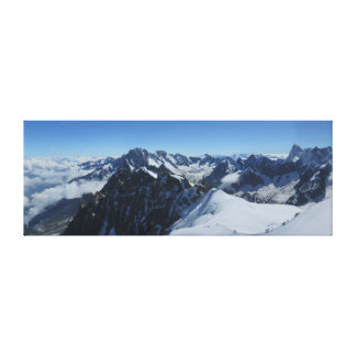 French Alps Chamonix Panorama Canvas Print