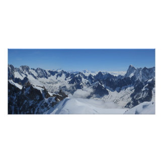 French Alps Chamonix panorama Poster