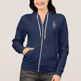 French American Flag Grunge Hoodie