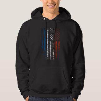 French American Flag Grunge Hoodie