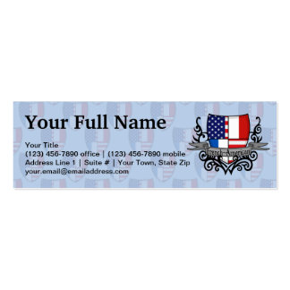 French-American Shield Flag Pack Of Skinny Business Cards