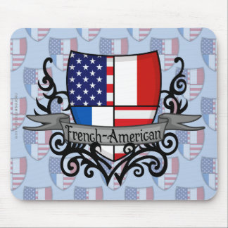 French-American Shield Flag Mouse Pad