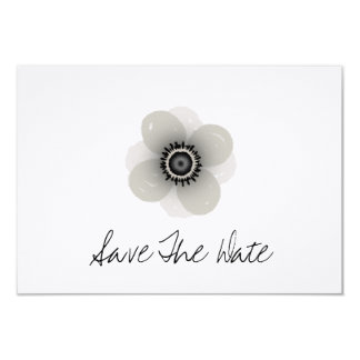 French Anemone Wedding Save The Date Card