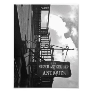 French antique shop sign art photo