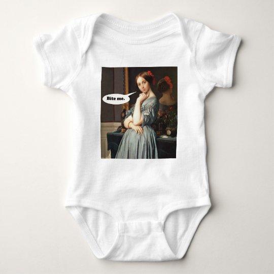 French Aristocrat Says: Bite Me Baby Bodysuit