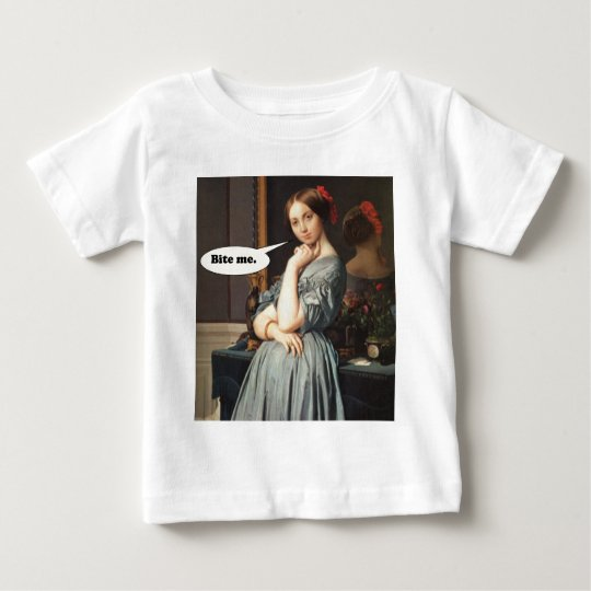 French Aristocrat Says: Bite Me Baby T-Shirt