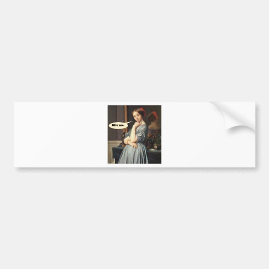 French Aristocrat Says: Bite Me Bumper Sticker