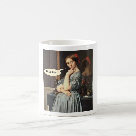 French Aristocrat Says: Bite Me Coffee Mug
