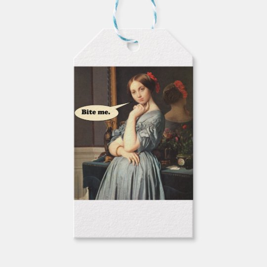French Aristocrat Says: Bite Me Gift Tags