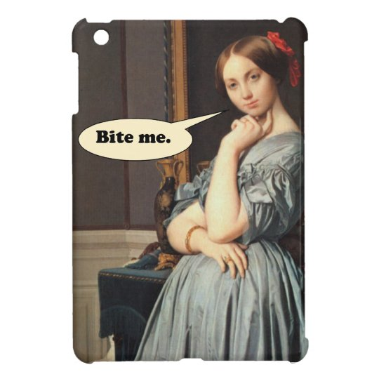 French Aristocrat Says: Bite Me iPad Mini Cases