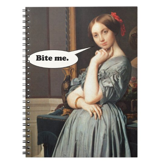 French Aristocrat Says: Bite Me Notebook