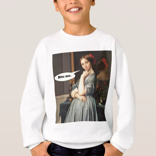 French Aristocrat Says: Bite Me Sweatshirt