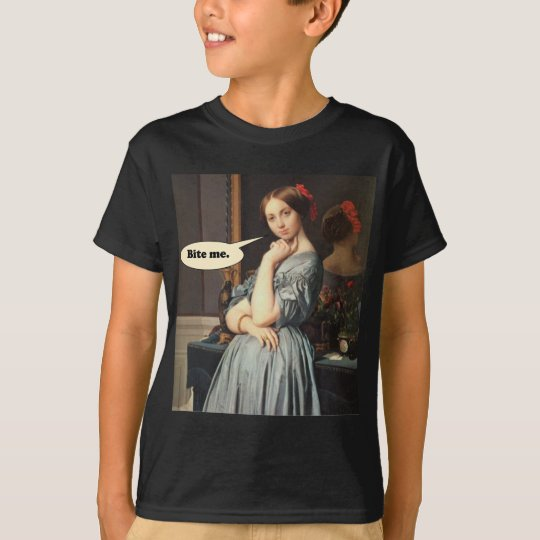 French Aristocrat Says: Bite Me T-Shirt