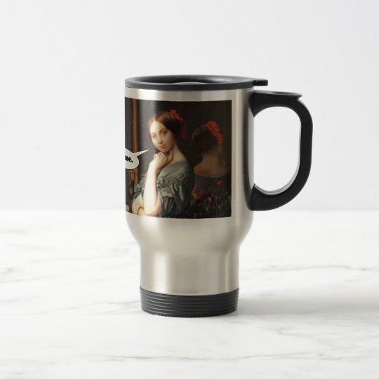 French Aristocrat Says: Bite Me Travel Mug
