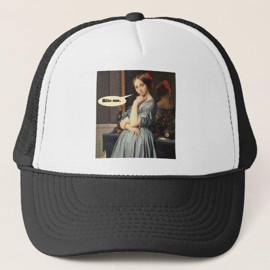 French Aristocrat Says: Bite Me Trucker Hat