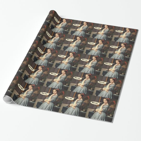 French Aristocrat Says: Bite Me Wrapping Paper