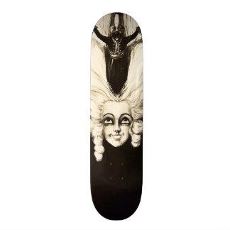 French Aristocrat Wig Hair Vintage Marionette 21.6 Cm Old School Skateboard Deck